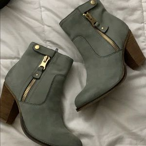 Ankle gray booties